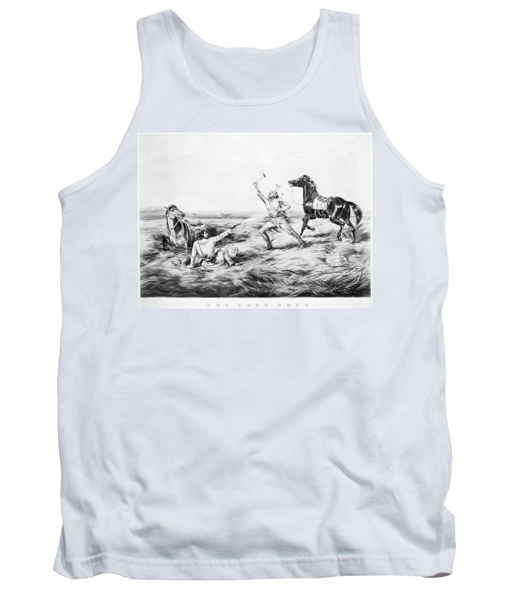 1858 Tank Top featuring the painting Frontiersman, 1858 by Granger