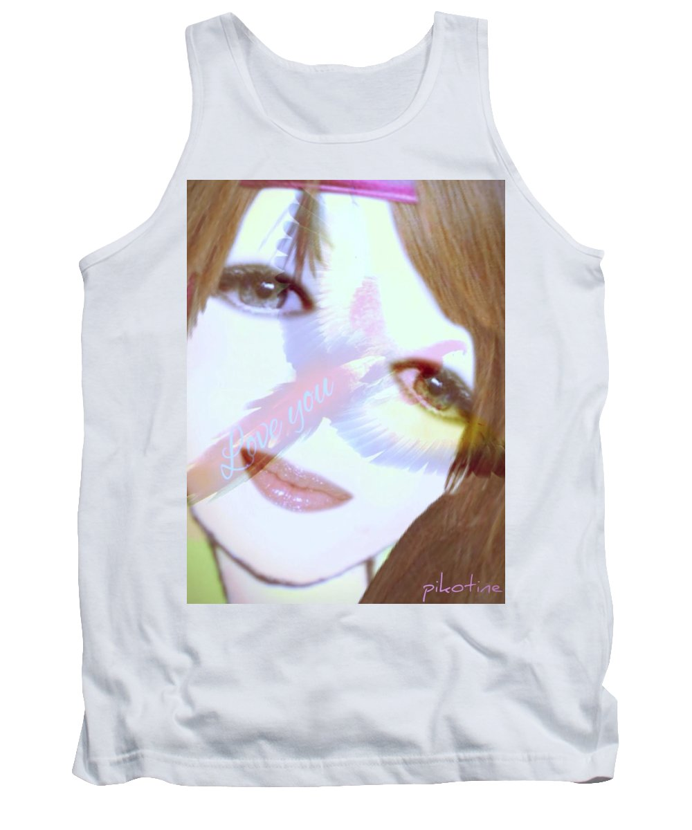 Gaelle Tank Top featuring the digital art Gaelle by Pikotine Art