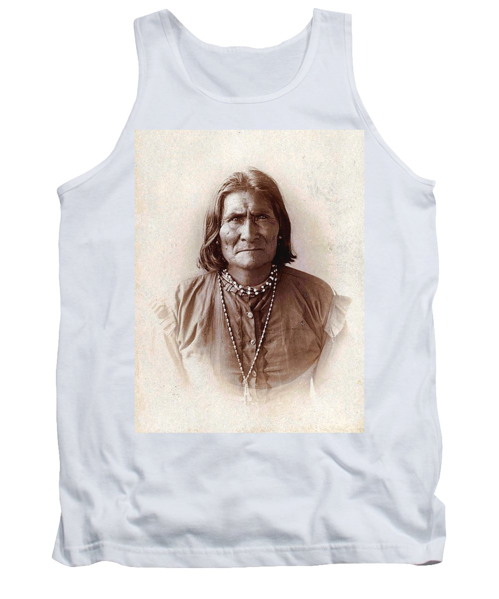Unknown Tank Top featuring the digital art Geronimo Native American Chief by Unknown