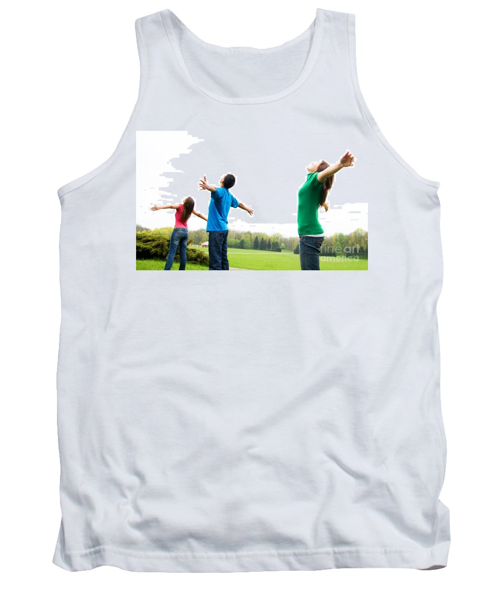 Active Tank Top featuring the photograph Happy Friends by Michal Bednarek