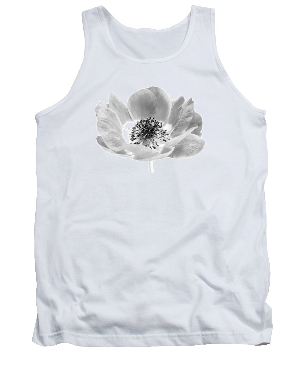 Anemone Tank Top featuring the photograph Harmony Scarlet Anemone by Paul Fell