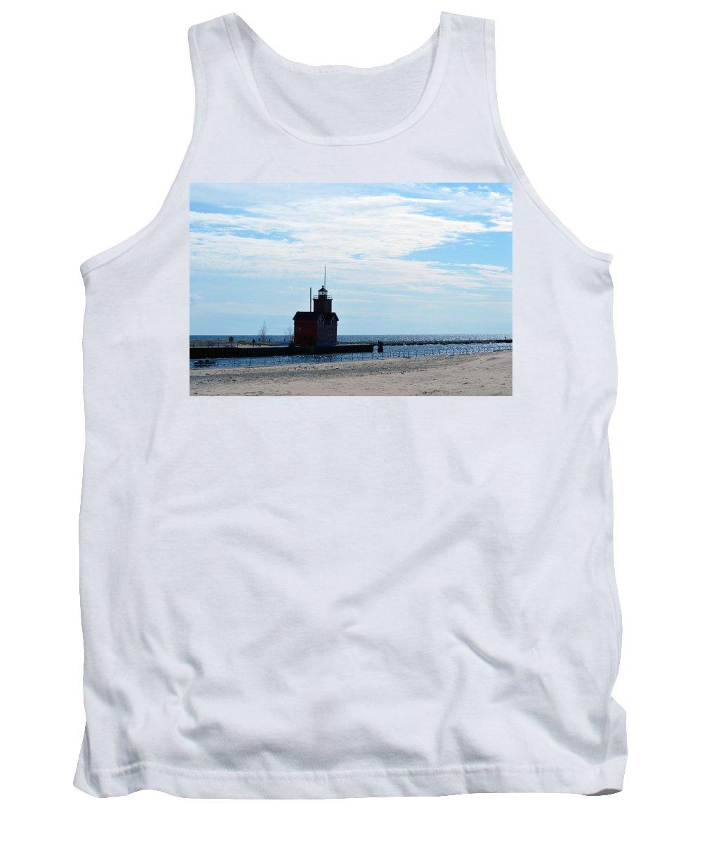 Holland Lighthouse Tank Top featuring the photograph Holland Lighthouse by Linda Kerkau