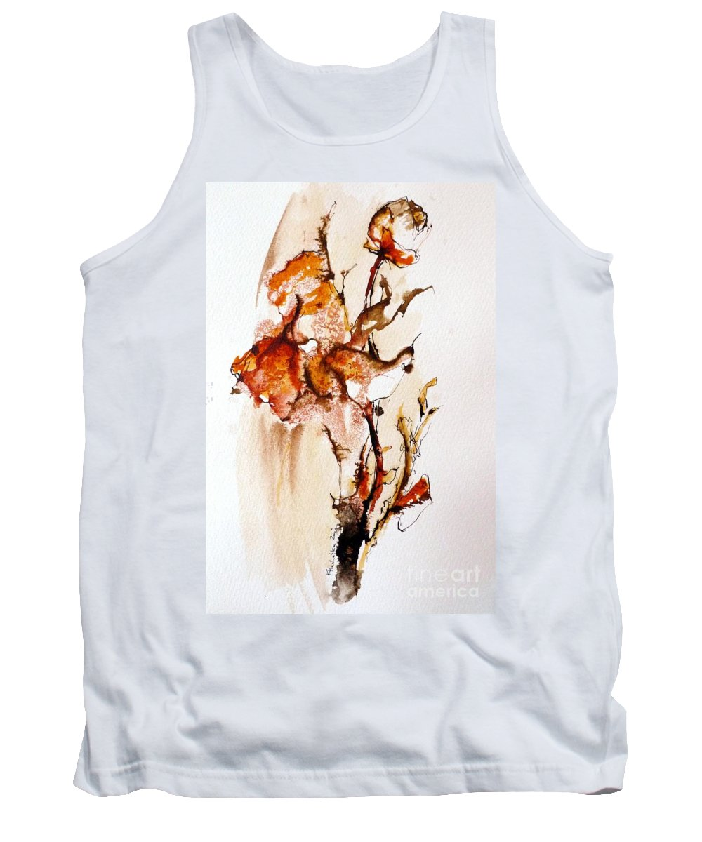 Drawing Ink Tank Top featuring the drawing Ink_r5 by Karina Plachetka