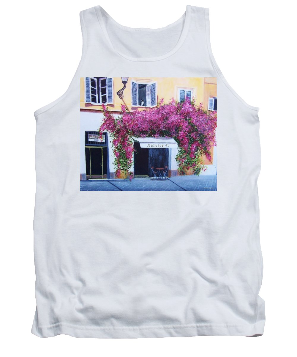 Rome Tank Top featuring the painting Jill's Roma by Jamie Frier
