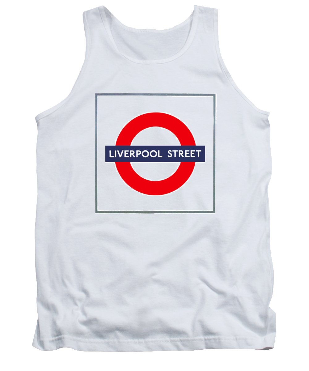 Blue Tank Top featuring the photograph Liverpool Street by Semmick Photo