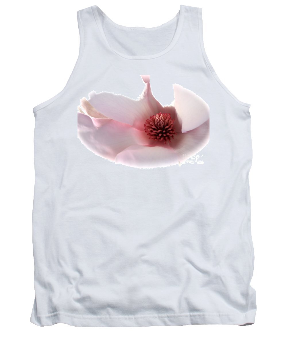 Saucer Magnolia Tank Top featuring the photograph Magnolia Center by Carol Groenen