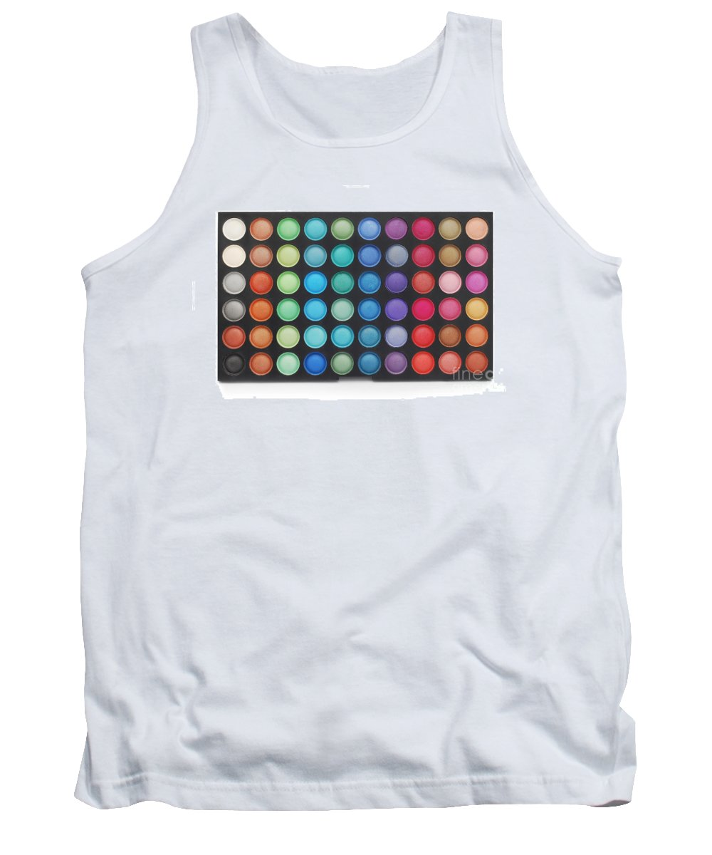 Make Tank Top featuring the photograph Makeup Color Palette by Cristian M Vela