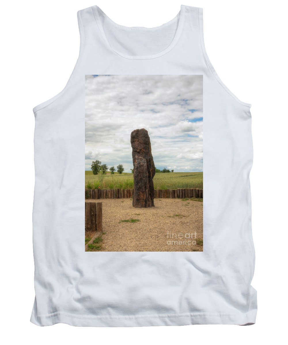 Menhir Tank Top featuring the photograph menhir Stone Shepherd by Michal Boubin