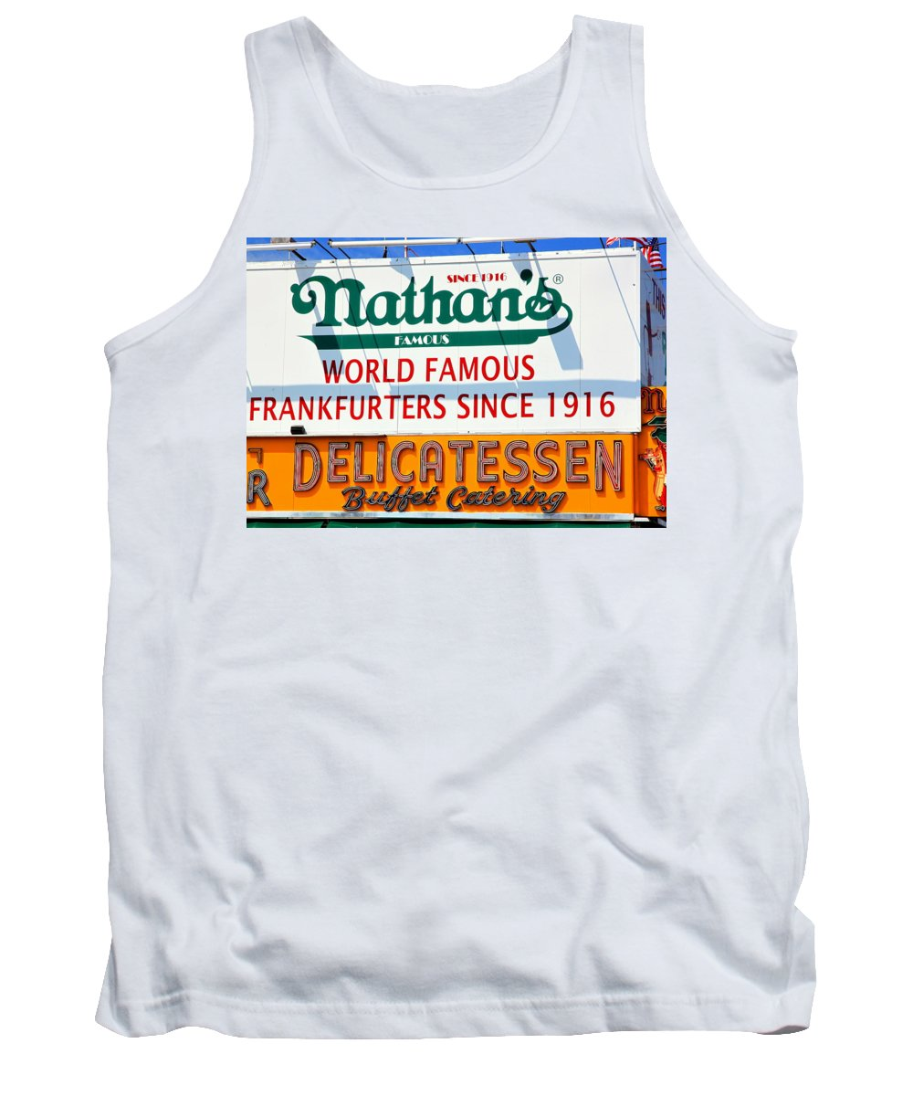 Dogs Tank Top featuring the photograph Nathan's Sign by Valentino Visentini