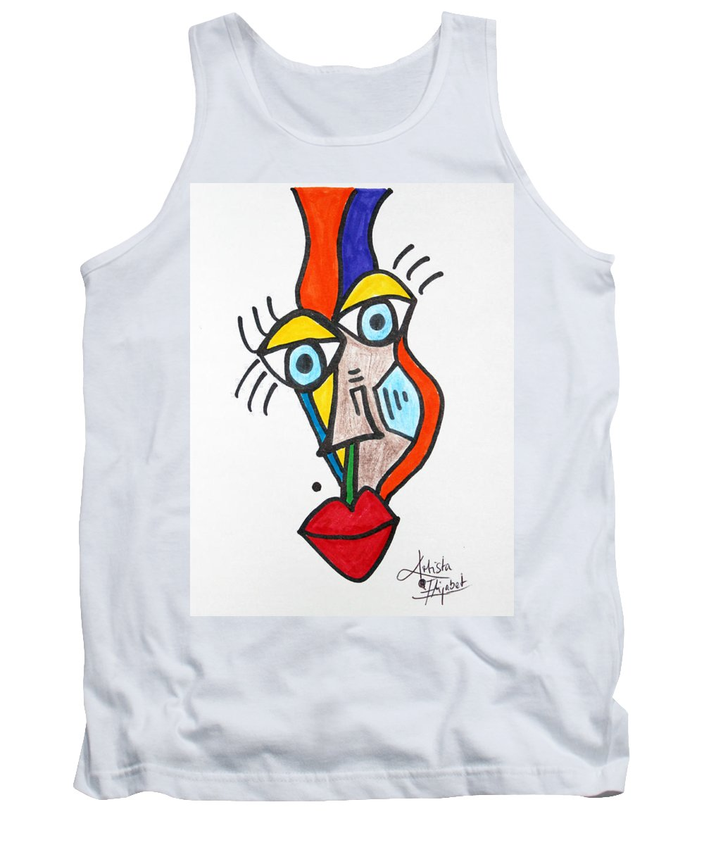 Tank Top featuring the mixed media New Collection September 2014 by Artista Elisabet