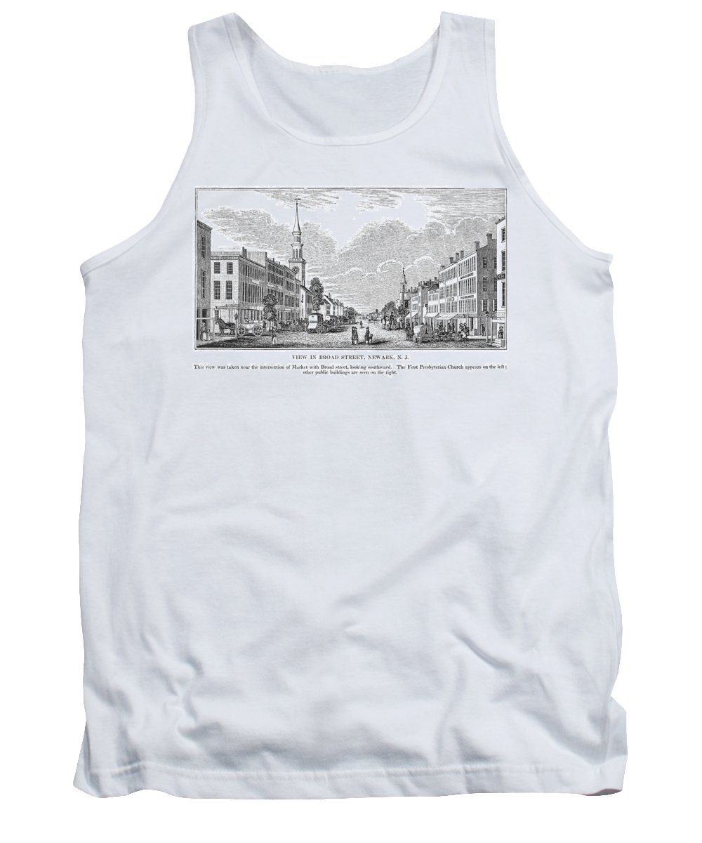 1844 Tank Top featuring the painting New Jersey Newark, 1844 by Granger