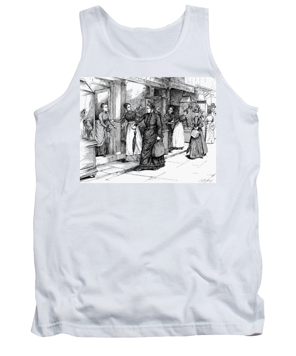 1889 Tank Top featuring the drawing New York Milliner, 1889 by Granger