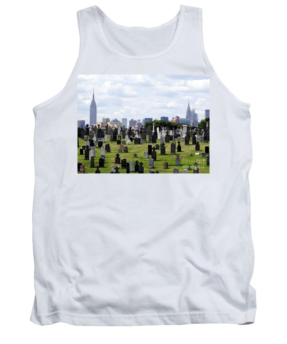 Cemetery Tank Top featuring the photograph New York Skyline by Ed Weidman