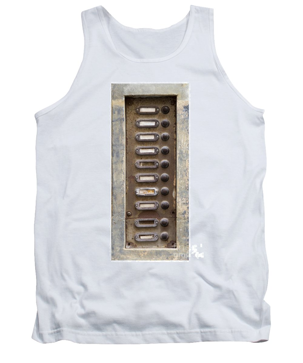 Topic Tank Top featuring the photograph Old Doorbells by Michal Boubin