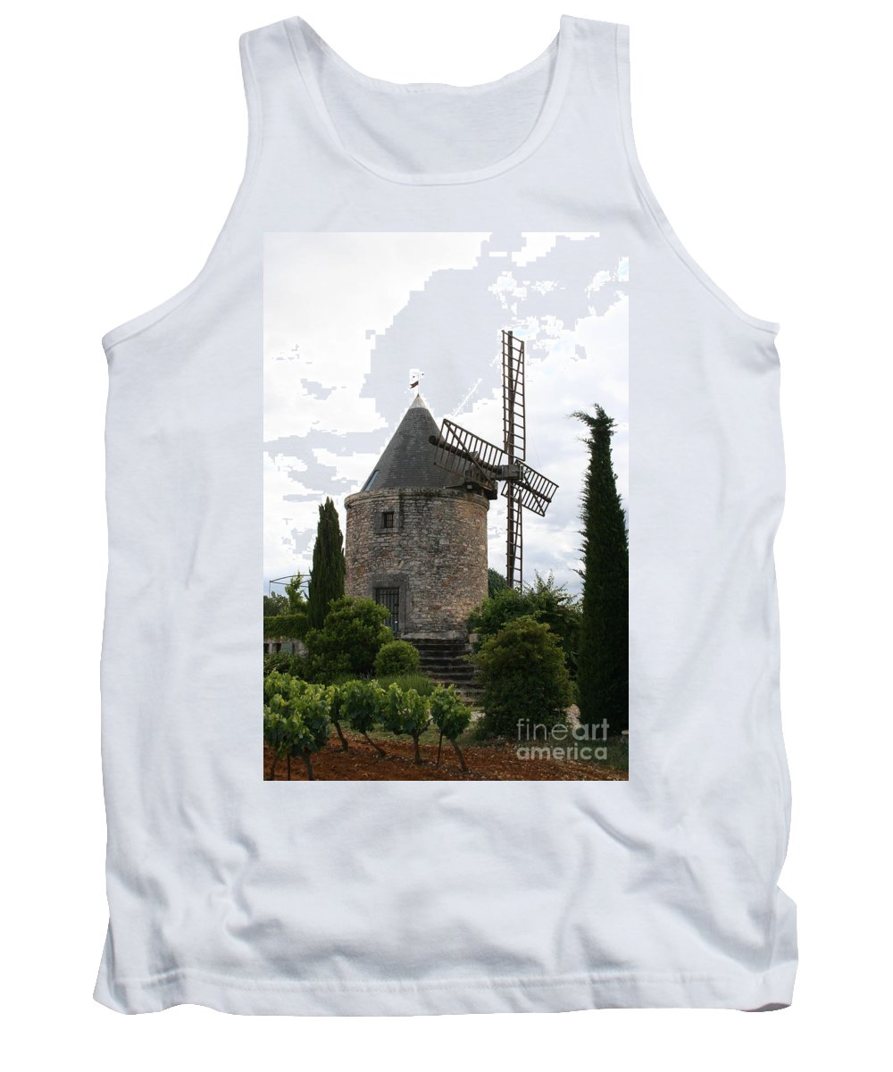 Mill Tank Top featuring the photograph Old Provencal Windmill by Christiane Schulze Art And Photography
