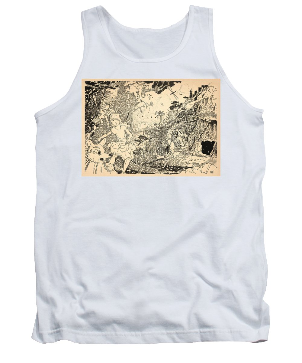 Wurtherington Tank Top featuring the drawing Open Sesame by Reynold Jay
