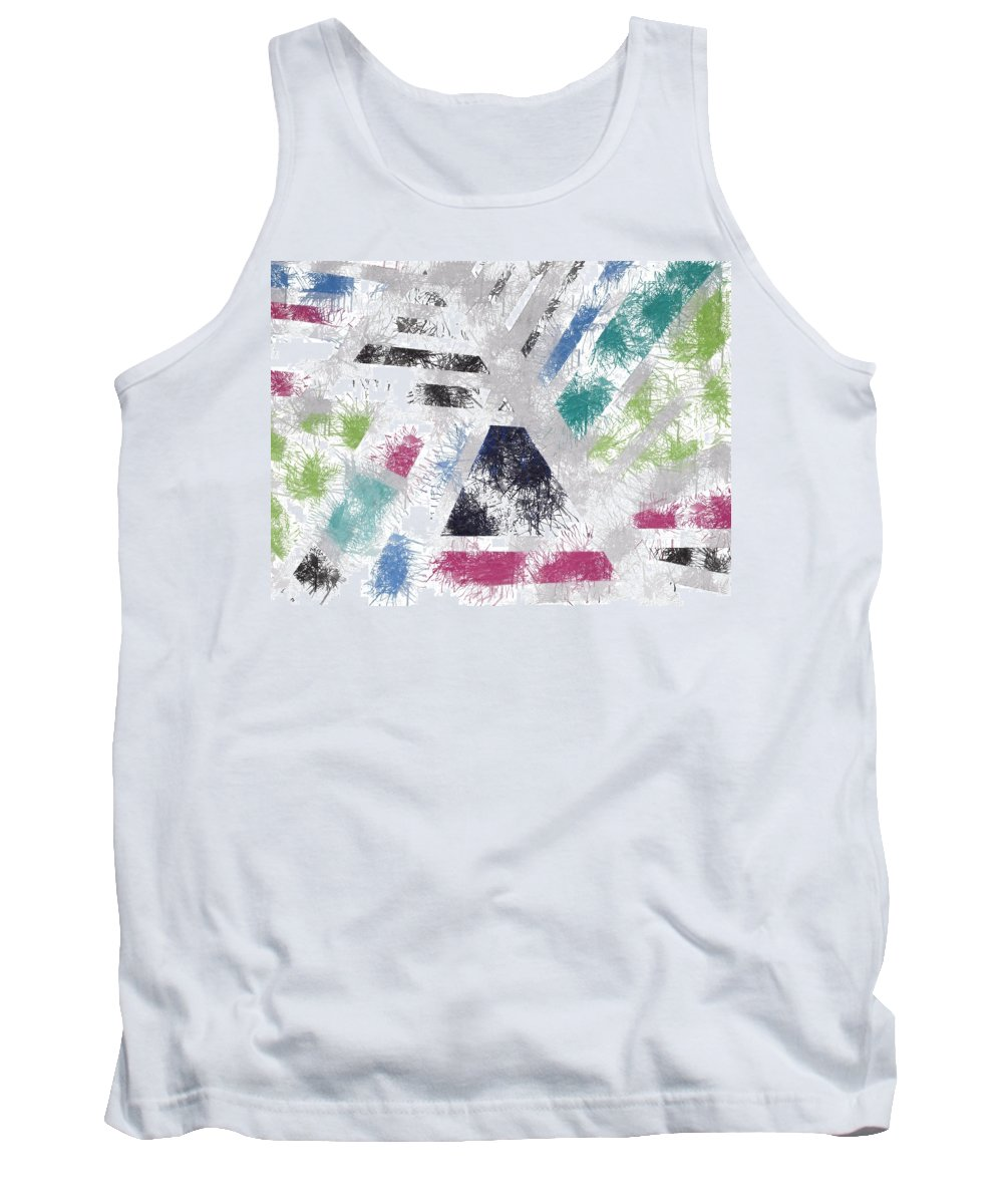 Abstract Art Tank Top featuring the painting Paint Splatter by Robert Margetts