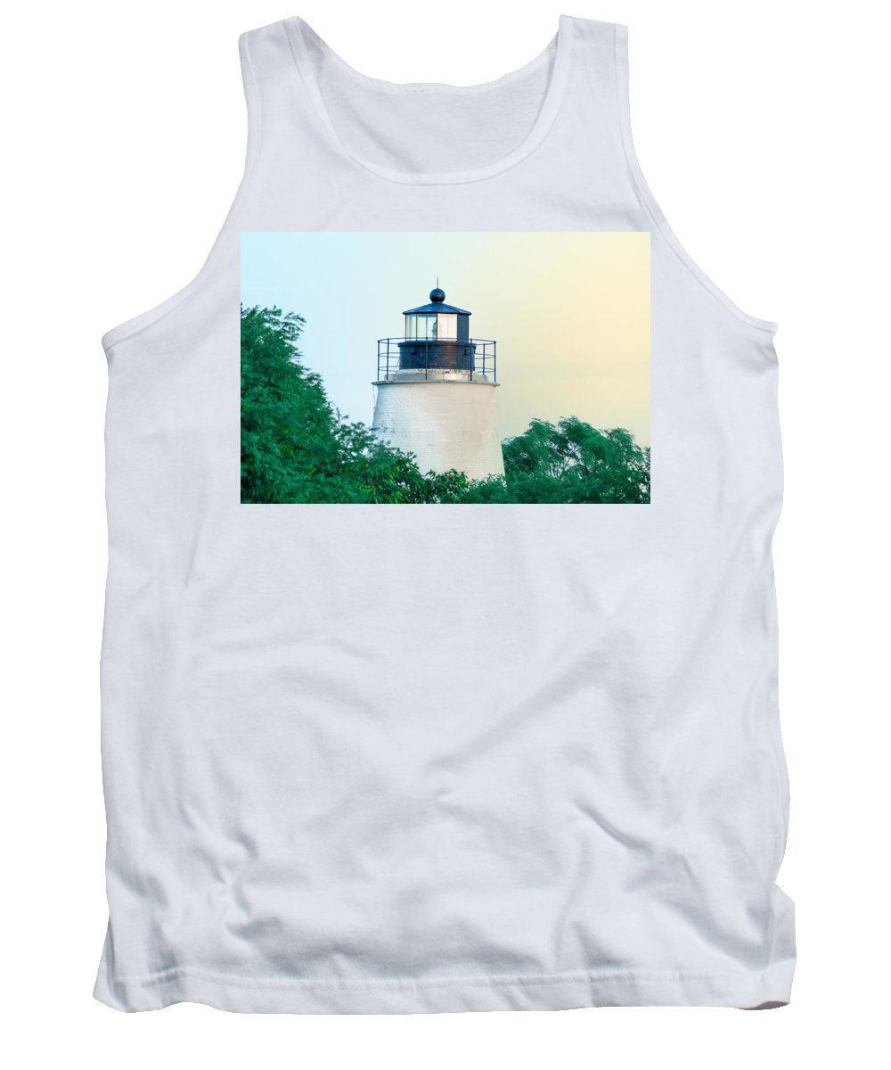 Piney Tank Top featuring the photograph Piney Point Maryland Lighthouse by Bill Cannon