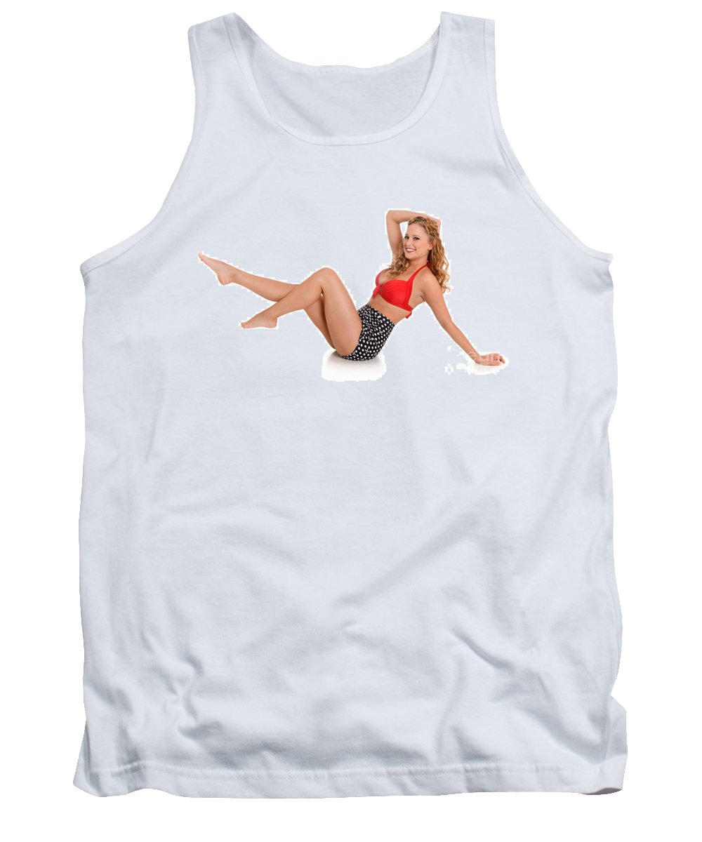 Model Tank Top featuring the photograph Pinup Girl by Jt PhotoDesign