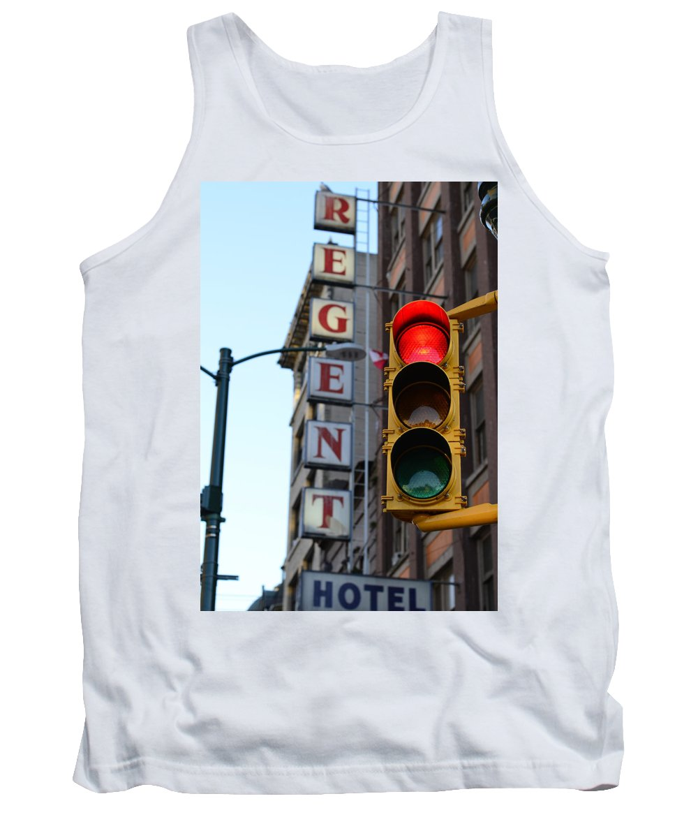 Vancouver Tank Top featuring the photograph Regent Hotel by The Artist Project