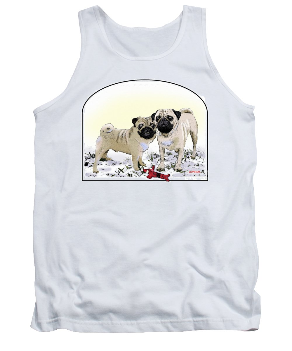 Canvas Prints Tank Top featuring the drawing Ricky And Curly by Joseph Juvenal