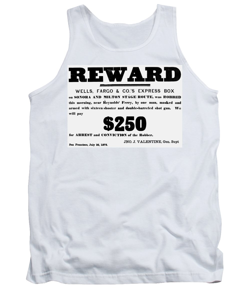 1875 Tank Top featuring the painting Robbery Reward, 1875 by Granger