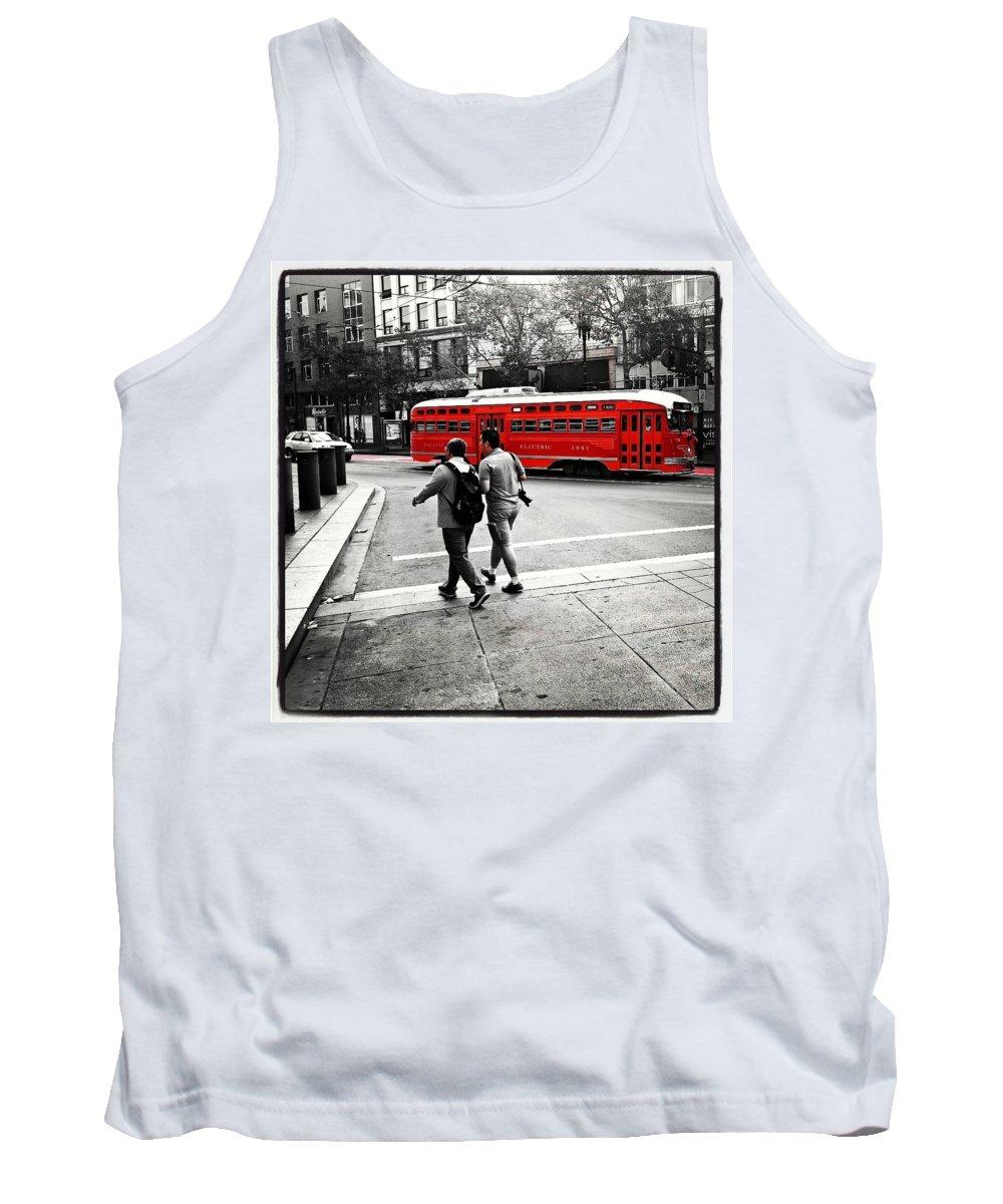 San Francisco Tank Top featuring the photograph San Francisco Tram by Alexander Fedin