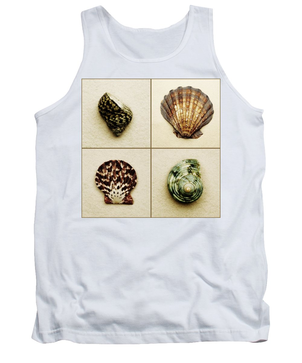 4 Of A Kind Tank Top featuring the photograph Seashell Composite by Darren Greenwood