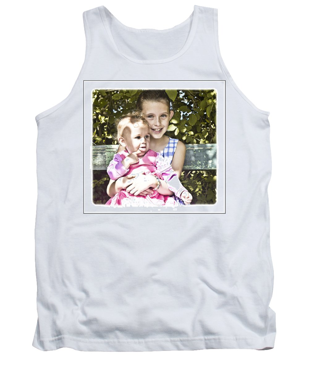 Girl Tank Top featuring the photograph Sisters by Alex Art and Photo
