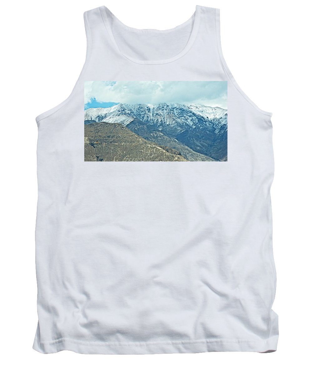 Snow-covered Himalayas Near Lhasa Tank Top featuring the photograph Snow-covered Himalayas Near Lhasa-tibet by Ruth Hager