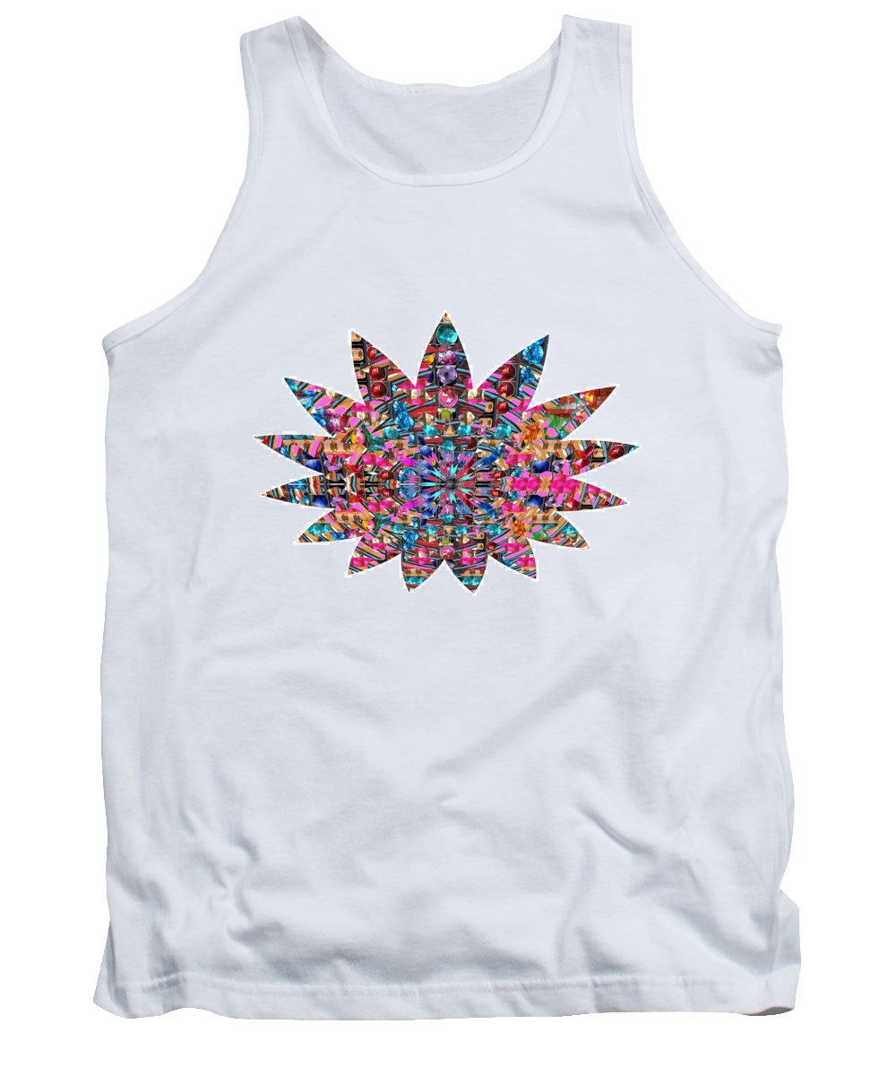 Star Tank Top featuring the photograph Star Ufo U.f.o. Sprinkled Crystal Stone Graphic Decorations Navinjoshi Rights Managed Images Graphi by Navin Joshi