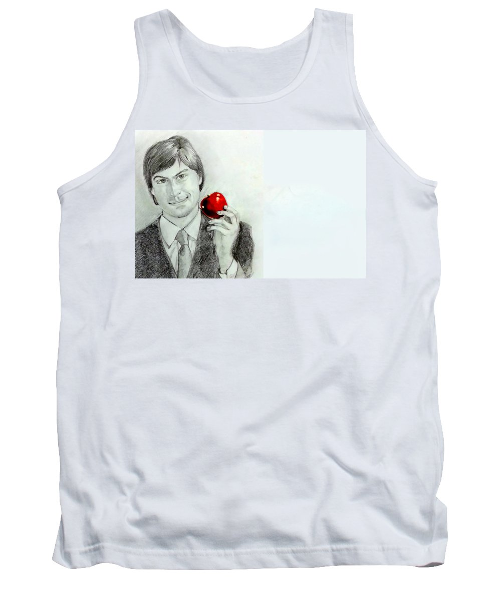 Tank Top featuring the painting Steve Jobs by Mayur Sharma