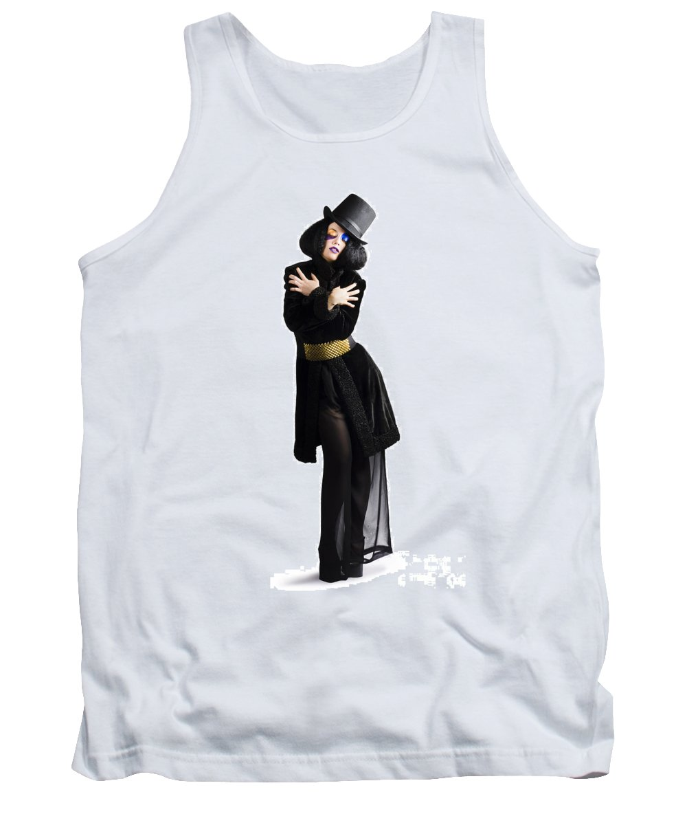 Fashion Tank Top featuring the photograph Stylish High Fashion Woman by Jorgo Photography - Wall Art Gallery