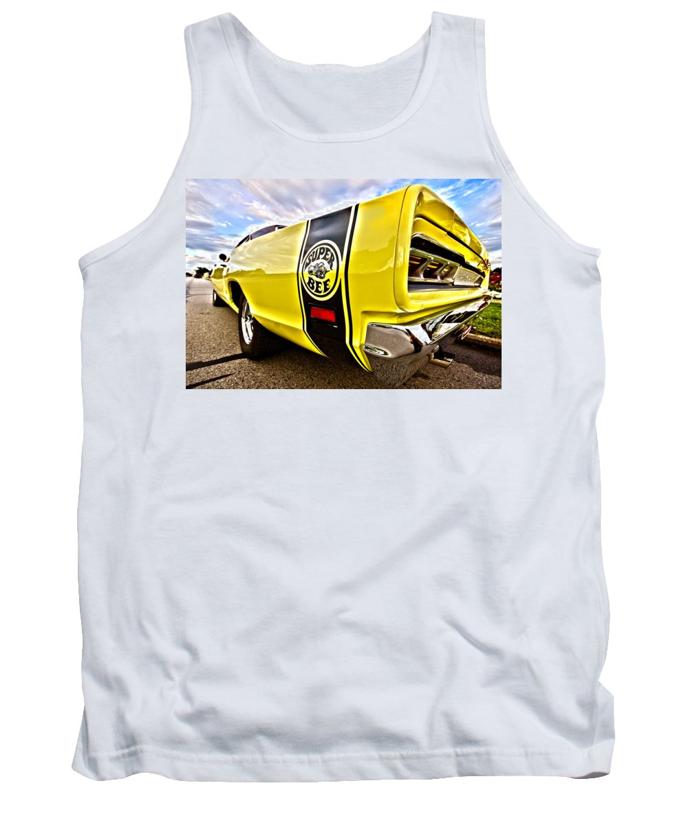 Dodge Tank Top featuring the photograph Super Close Super Bee by Gordon Dean II