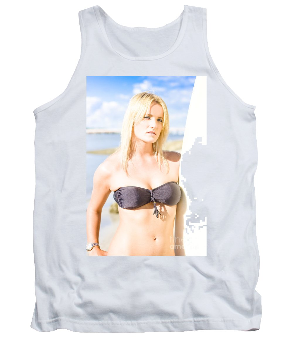 Attractive Tank Top featuring the photograph Surfing Leisure And Recreation by Jorgo Photography - Wall Art Gallery
