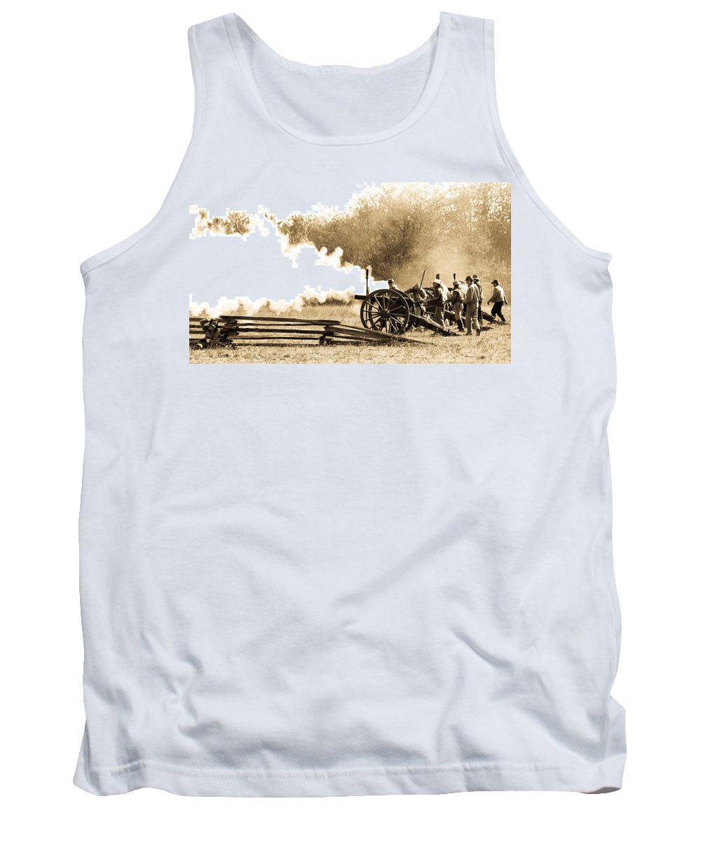 Civil War Tank Top featuring the photograph The Battle by Athena Mckinzie