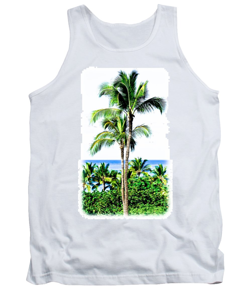 Tropical Palm Trees Tank Top featuring the photograph Tropical Palm Trees by Athena Mckinzie