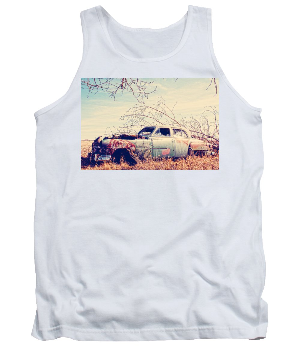 Old Car Tank Top featuring the photograph Under The Seat by The Artist Project