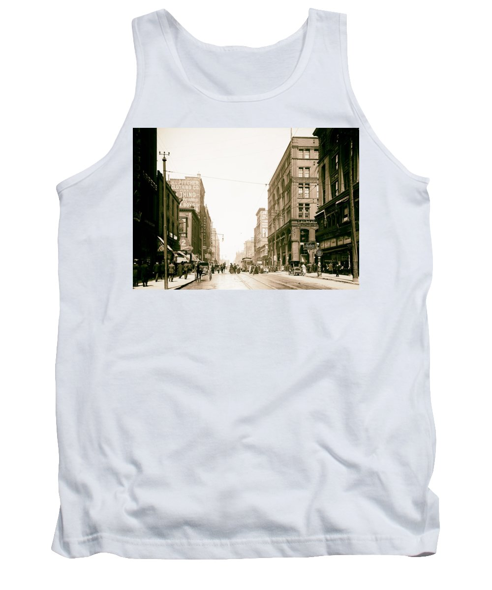 1906 Tank Top featuring the photograph Walnut Street - Kansas City 1906 by Mountain Dreams