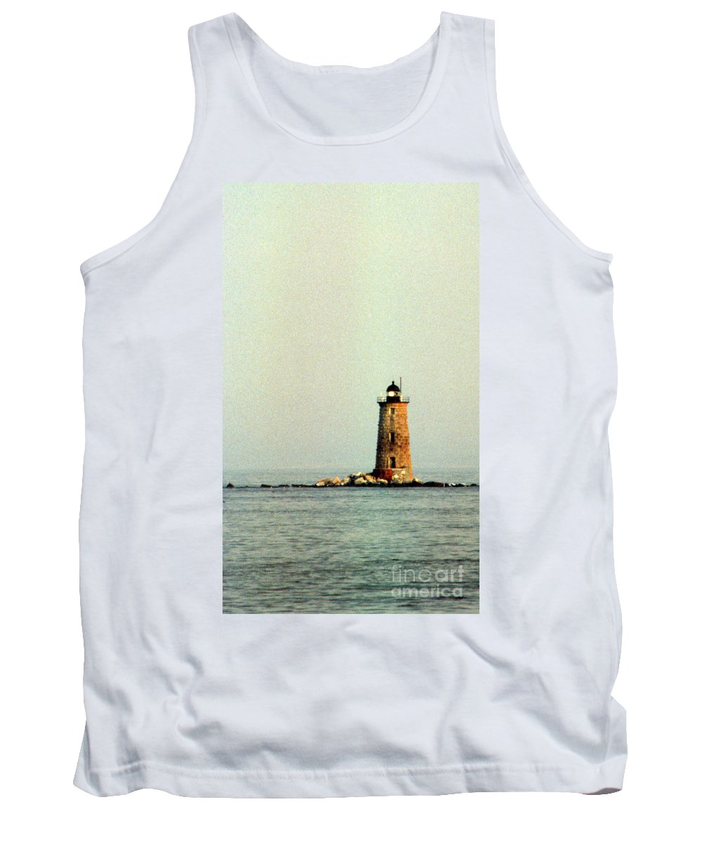 Lighthouses Tank Top featuring the photograph Whaleback Lighthouse by Skip Willits