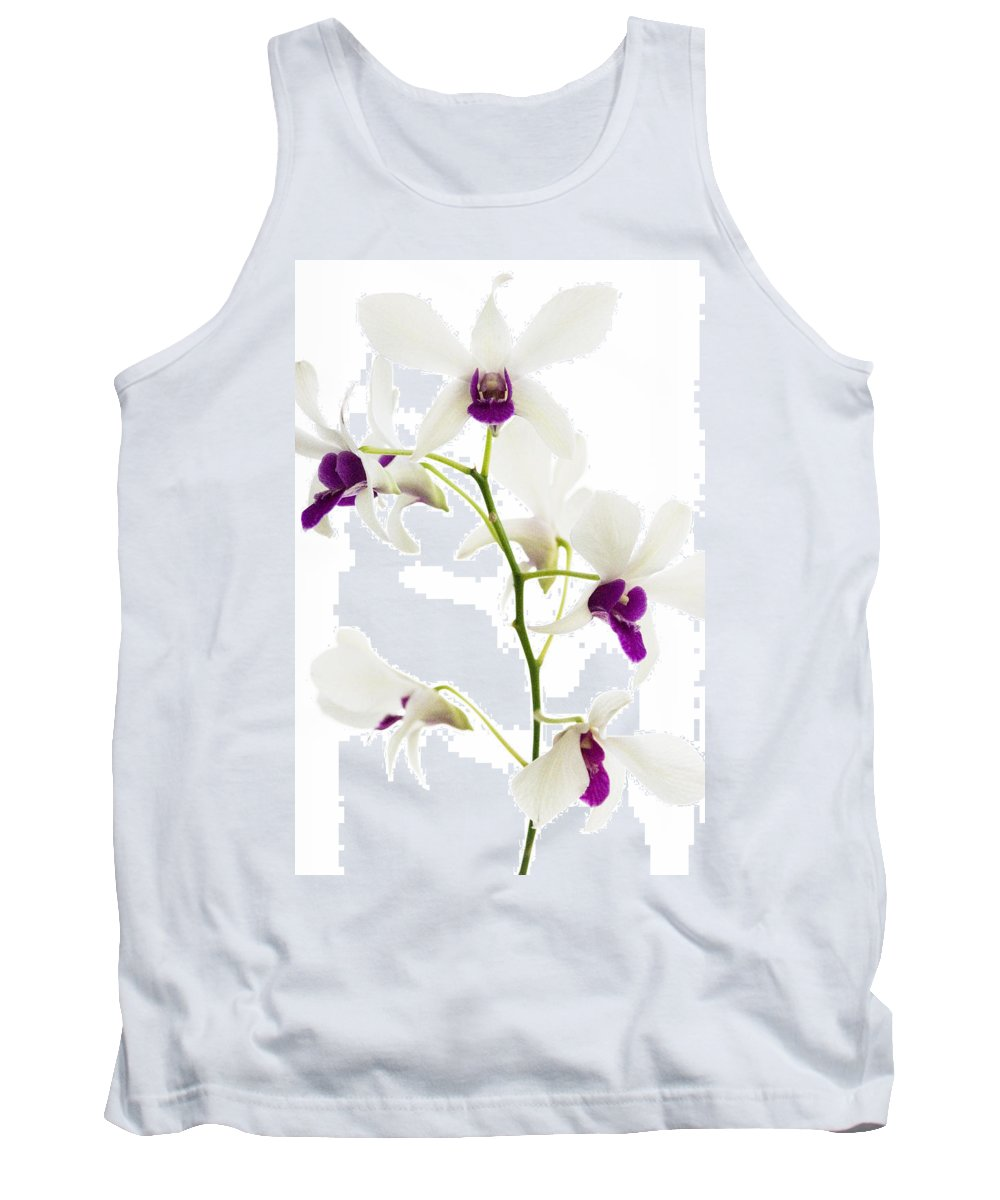 White Tank Top featuring the photograph White Orchids by Bradley R Youngberg