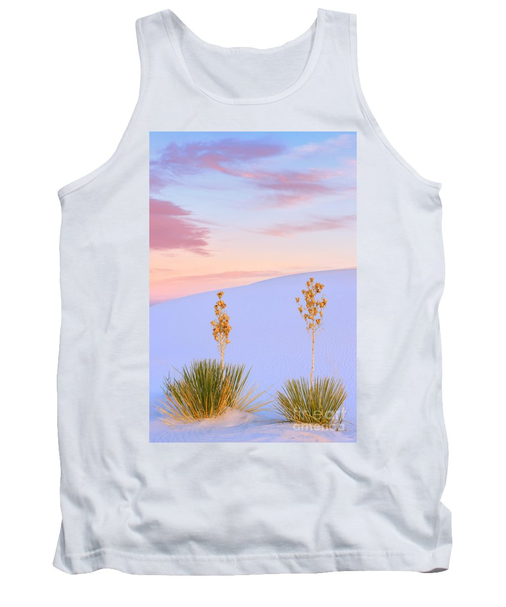 Nature Tank Top featuring the photograph White Sands National Monument by Henk Meijer Photography