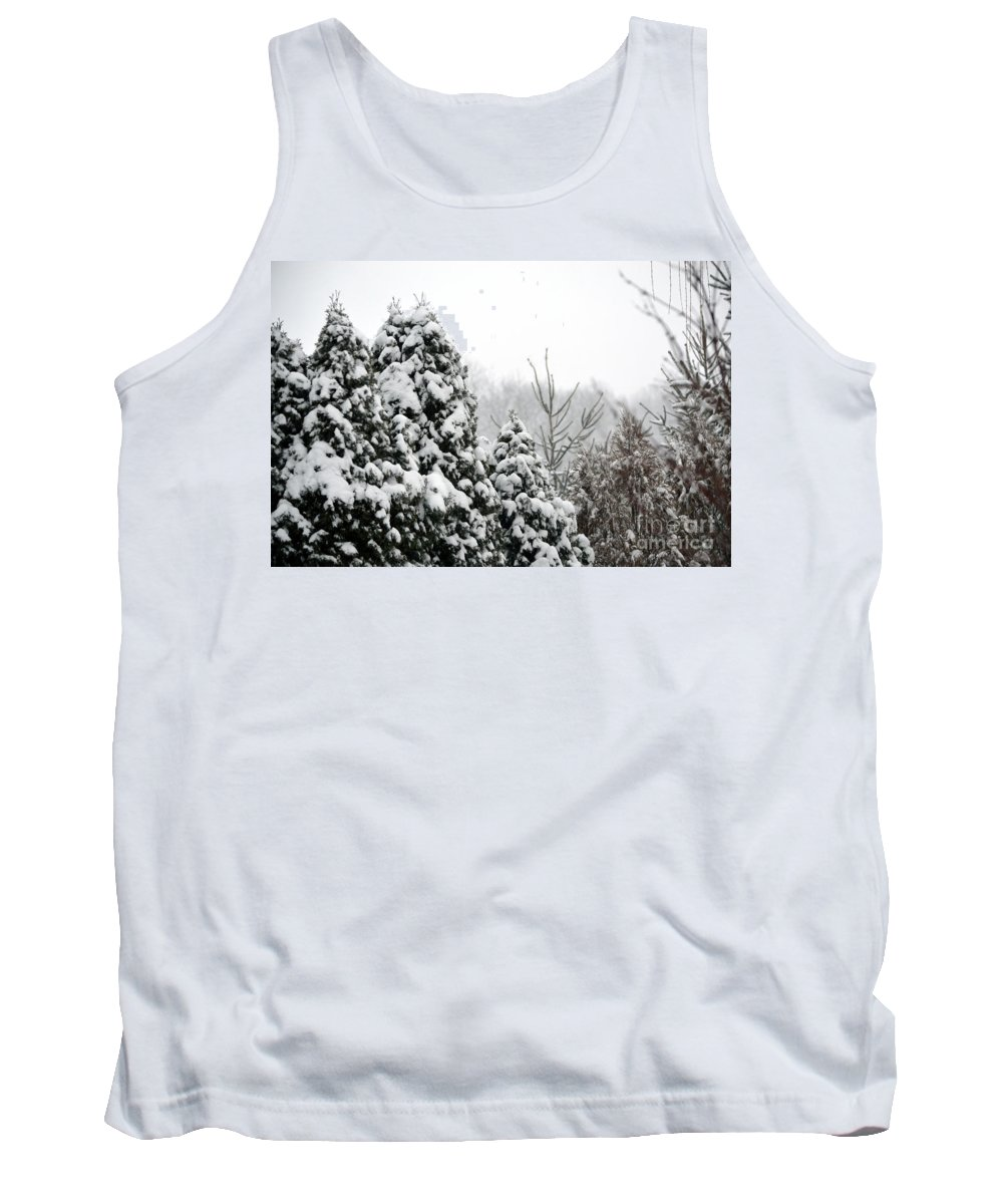 Winter Tank Top featuring the photograph Winter Trees by Alys Caviness-Gober