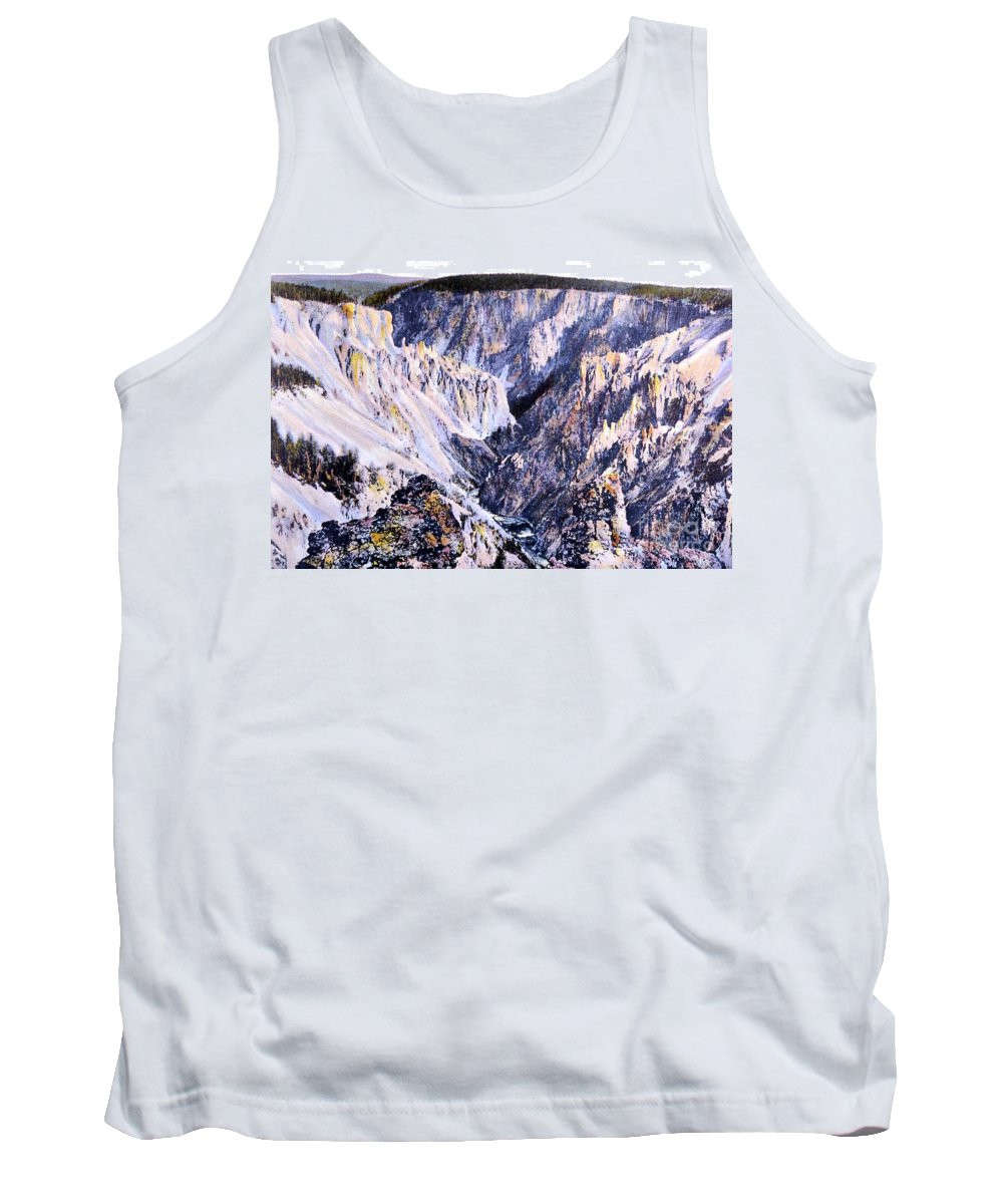 History Tank Top featuring the photograph Yellowstone Canyon Yellowstone Np by NPS Photo Frank J Haynes