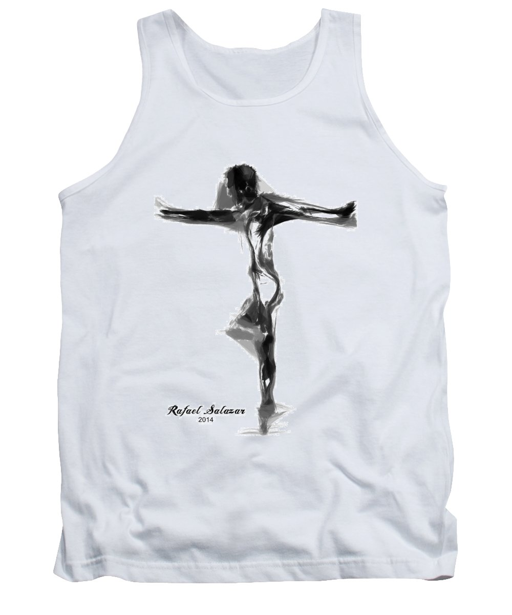 Abstract Tank Top featuring the digital art Abstract Series I by Rafael Salazar