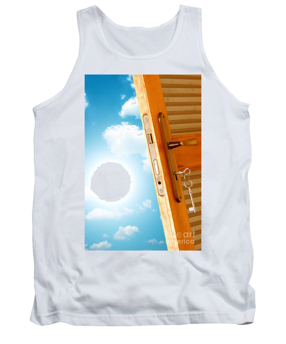 Air Tank Top featuring the photograph Door To New World by Michal Bednarek