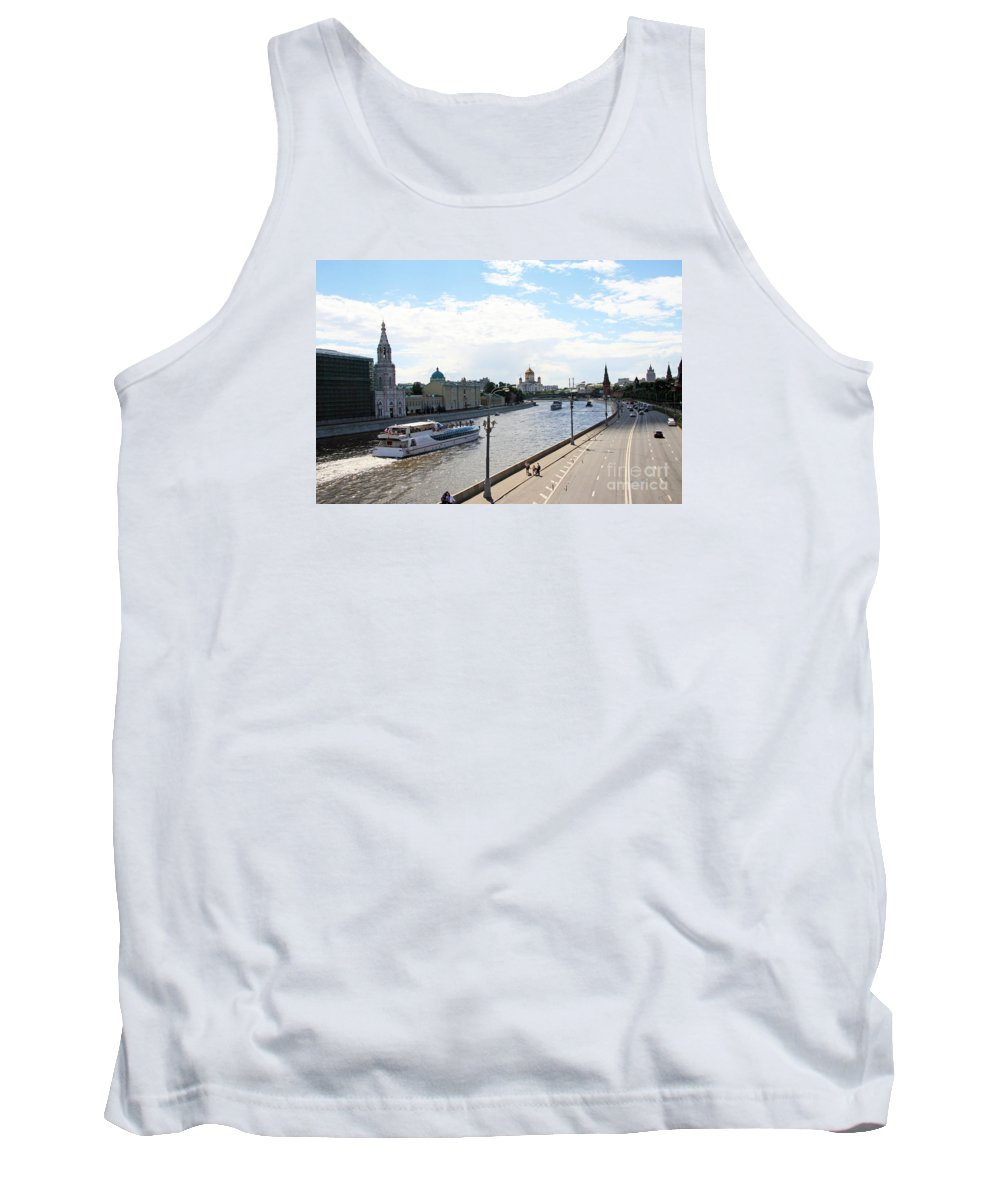 Moscow Tank Top featuring the photograph Moscow by Lali Kacharava