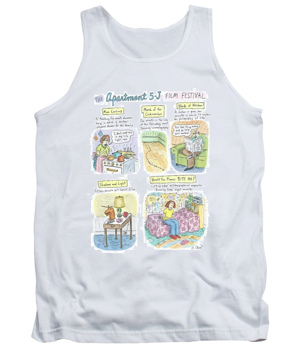 Movies Tank Top featuring the drawing New Yorker September 18th, 2006 by Roz Chast
