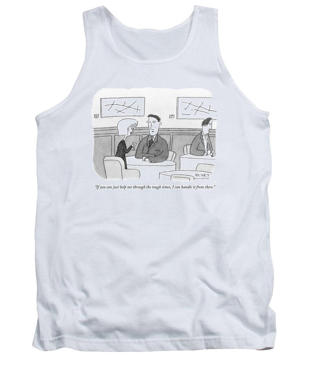 Support Tank Top featuring the drawing If You Can Just Help Me Through The Tough Times by Peter C. Vey