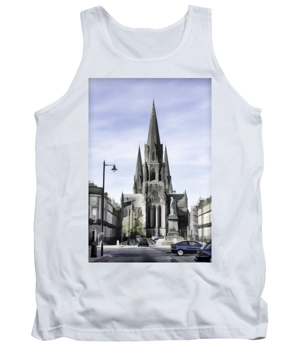 Architecture Tank Top featuring the digital art View Of Episcopal Cathedral In Edinburgh by Ashish Agarwal